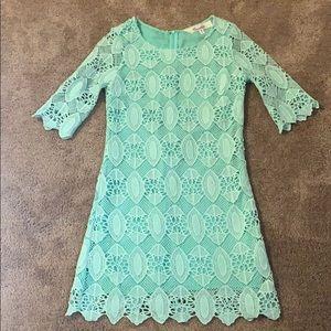 Emmalee Mint Green Lace Dress